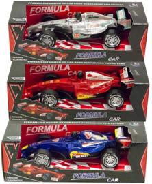3 stuks raceauto pull back 5,5x17cm