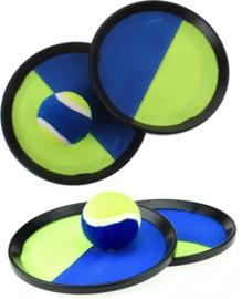 2 setjes vangspel + ballen groen-blauw