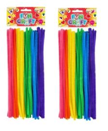 2 pakjes Chenille draad  30 cm multicolor