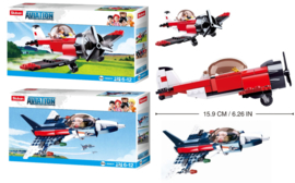 2 stuks bouwpakketten stuntvliegtuig en straaljager