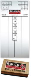 Bull's scorebord 30 x 60 cm wit + whiteboard marker + Scorebord wisser