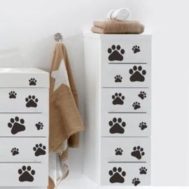 Muursticker pootafdrukken hond - kat