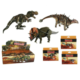 3d puzzel opwindbare dinosaurus 4 setjes
