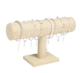 Sieraad display linnen voor armbandjes