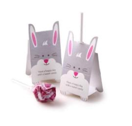 40 stuks lolly decoratie konijn