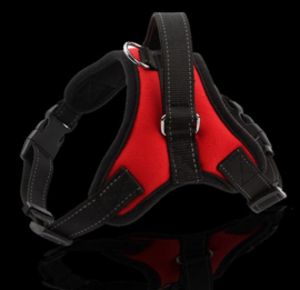 Hondentuig / harnas maat L rood / zwart