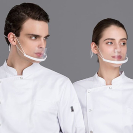 2 stuks transparante mondmaskers