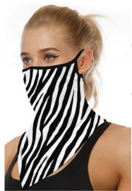 Motor sjaal - motor masker - ski masker - motor gezichtsmasker - ski gezichtsmasker zwart - wit
