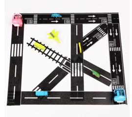 3 rollen washi tape decoratie tape- verkeer - wegen
