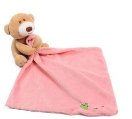 Baby knuffeldoek beer roze
