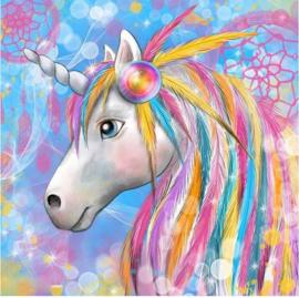 Diamond Painting Unicorn - eenhoorn 30x30 cm