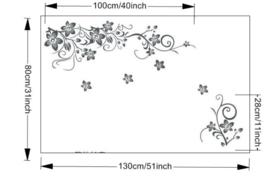 Muursticker romantische bloemen 70x50 cm