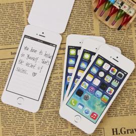 Post-it notitie boekje Iphone 2 stuks