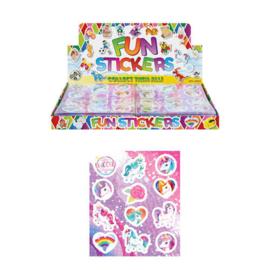 10 velletjes unicorn stickers
