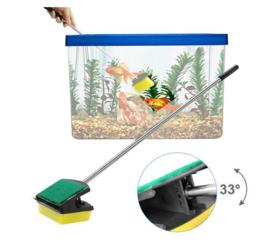 Aquarium cleaner - borstel - lang handvat