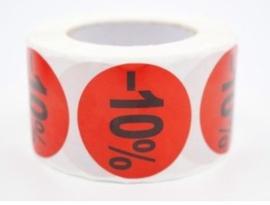 Kortingstickers 10% - 500 stuks