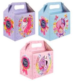 6 stuks menubox pony's 14 x 9.5 x 18 Cm