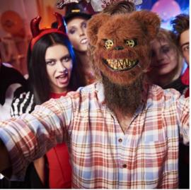 Bloody teddy beer masker - horror masker
