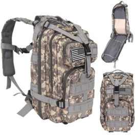 Militaire outdoor rugzak camouflage 20L