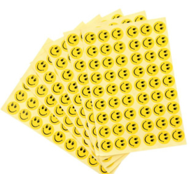312 smiley stickertjes (6 velletjes)