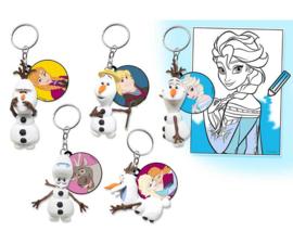 6 stuks Frozen blingbag Olaf sleutelhanger