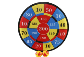 Klittenband dartbord 25 cm