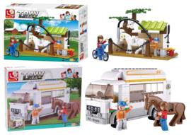 2 bouwpakketten Sluban Paardenverzorgingspost & Paardentransport