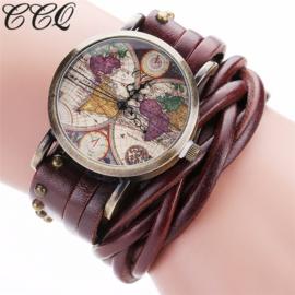 Horloge wereldkaart