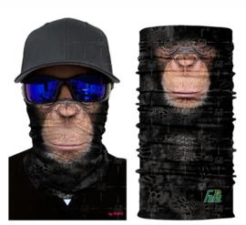 Motor bandana - colsjaal - buff sjaal - motor masker - ski masker - motor gezichtsmasker - ski gezichtsmasker aap