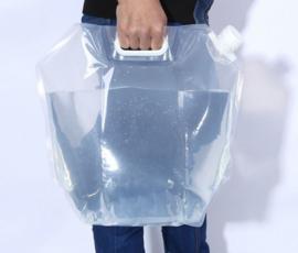 Inklapbare wateropslag 10 liter - waterzak - outdoor camping