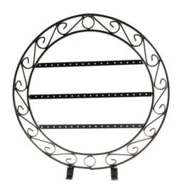 Metalen sieraden display rond 32 x 31 cm