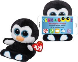 TY Pluche Pinguin met Glitter ogen Smartphonehouder Penni 15cm