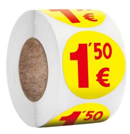 500 stuks prijs stickers op rol 1,50 €