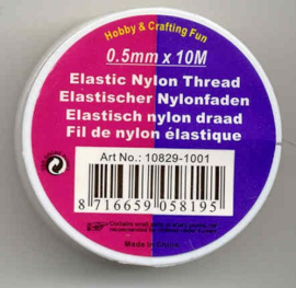 2 rollen Elastisch Nylon Draad - 0,5mm x 10M = 20 meter