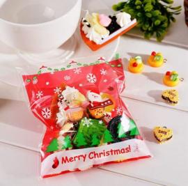 50 stuks traktatie zakjes kerst