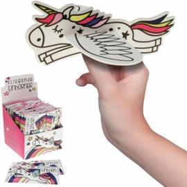 Foamvliegtuigjes vliegende eenhoorn - unicorn 8 stuks