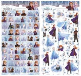 2 stickervellen Frozen 20x10 cm