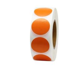 500 oranje stickers op rol - prijsstickers 2.5 cm
