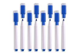 8 stuks magnetische whitebord stiften blauw