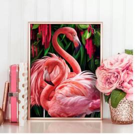 Diamond Painting Flamingo 20x25 cm
