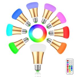 LED verlichting - Brightness 10W RGB E27 - 12 kleuren