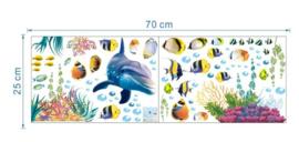 Muursticker aquarium - oceaan