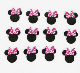 12 stuks cupcake omslagen + 12 toppers Mini Mouse