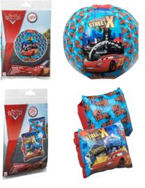 Cars Opblaasbare beachball en zwemmouwtjes