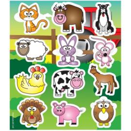 10 stickervellen boerderij dieren 10 x 11.5 cm