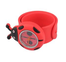 Kinderhorloge / klaparmband lieveheersbeestje