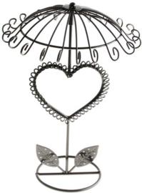 Metalen oorbellen display hart