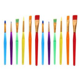 12 stuks gekleurde penselen / verf kwasten