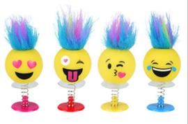 12 stuks spring Smiley met grappig kapsel - uitdeelcadeautjes