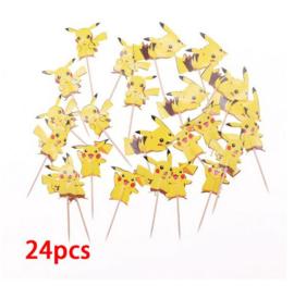 24 stuks cupcake toppers Pokemon